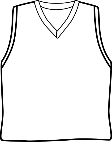 jersey template clipart best