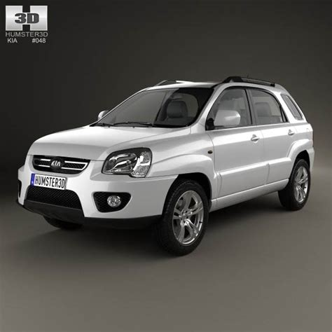 Kia 2008 Model Kia Sportage 2008 3d Model Humster3d