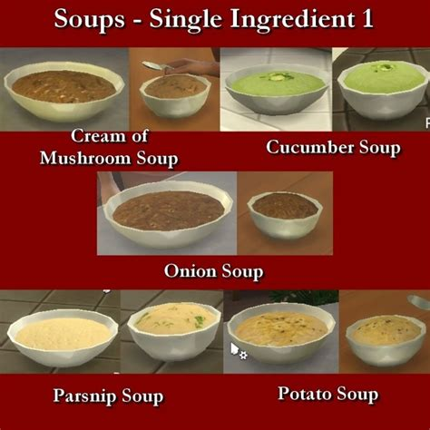 Custom Food custom food soups single ingredient 1 by leniad at mod the