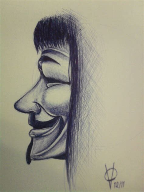 Drawing V For Vendetta by The Gallery For Gt V For Vendetta Drawing