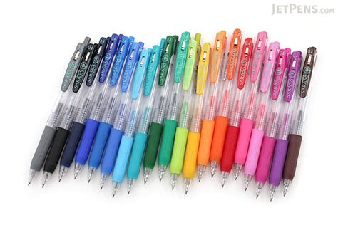 Pulpen Zebra Sarasa zebra sarasa push clip gel pen 0 4 mm 20 color bundle