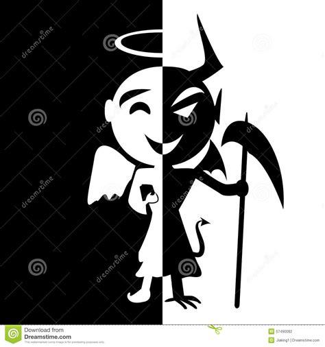 bipolar disorder smile of saint and satan stock vector