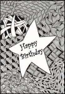 coloring page happy birthday star 11
