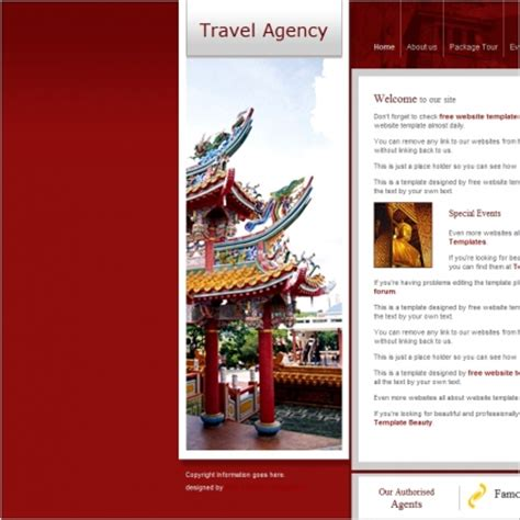 free download css templates for advertising agency travel agency template free website templates in css html