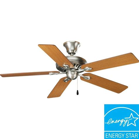 antique nickel ceiling fan progress lighting airpro signature 52 in antique nickel