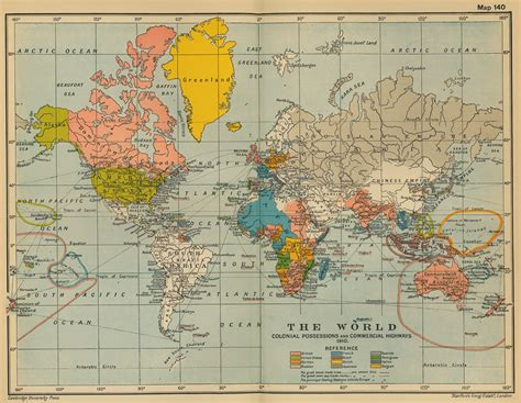 map of the world map 1910