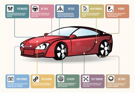 Auto Teile by Autoteile F 252 R Infographics Vektor Abbildung Illustration