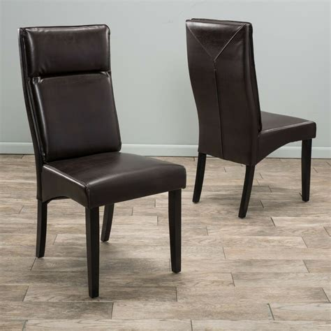 leather dining room chairs set of 2 dining room furniture brown leather padded dining