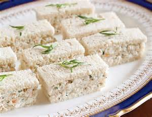 tarragon shrimp salad finger sandwiches