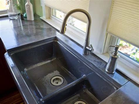 Concrete Countertop And Sink by Kitchen Pictures From Cabin 2014 Diy Network