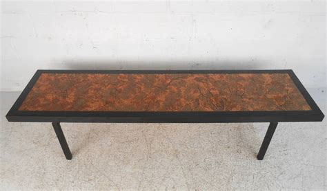 hammered metal table l beautiful mid century modern hammered copper top coffee