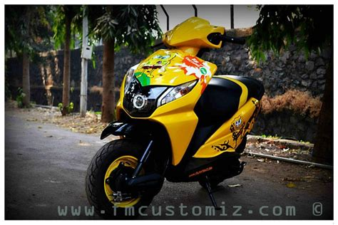 Modification Honda Dio by Honda Dio Stickering Designs Modified Stickers Graphics