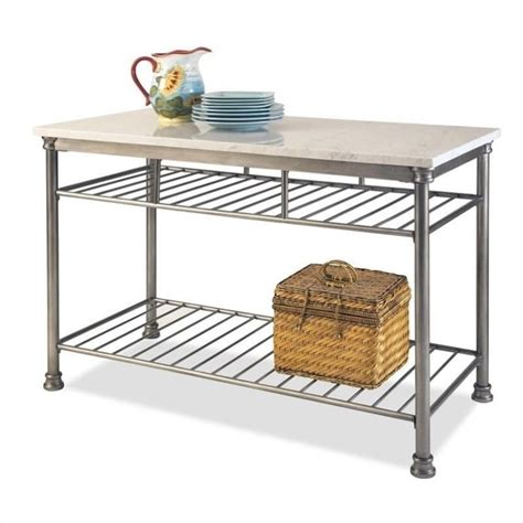 home styles the orleans island w marble veneer top kitchen cart ebay