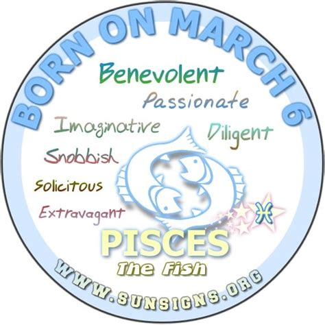 pisces march 6 birthday horoscope analysis personality