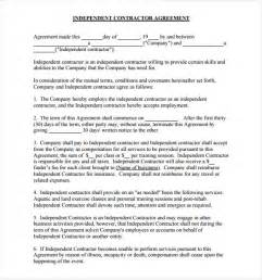 sle independent contractor agreement 12 documents in