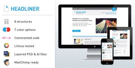 headliner email marketing newsletter template by