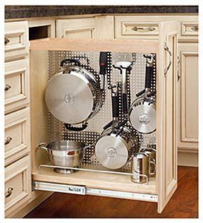 kitchen storage cabinets for pots and pans 10 modest kitchen area organization and diy storage ideas 6