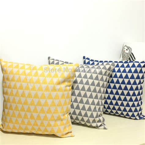 yellow pattern cushion covers decorative cushion covers yellow grey navy blue vintage