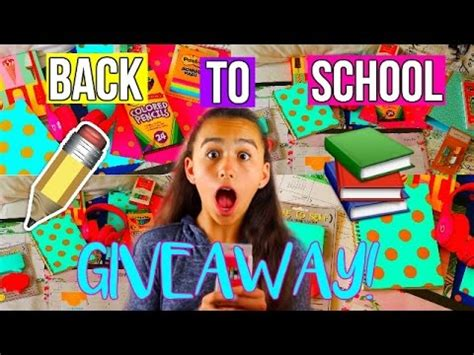 Youtube Giveaways 2016 - back to school supplies giveaway 2016 youtube
