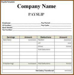 Pdf Payslip Template by 7 Payslip Template Authorizationletters Org
