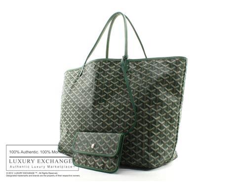 The Go Green Goyard St Louis Shopper Tote by Authentic Goyard St Louis Gm Tote Bag