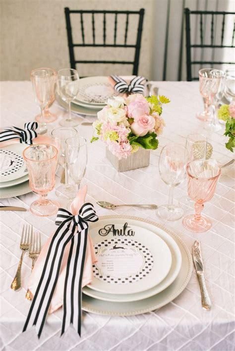 allestimenti tavoli matrimonio tante idee chic per un matrimonio a tema rosa e nero