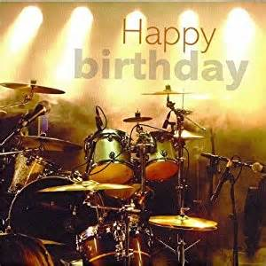 drums on stage happy birthday card amazon co uk musical