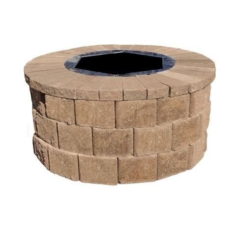 stylish 35 in round fire pit insert dx111494 the home