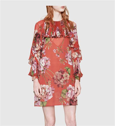 Get Macphersons Gucci Dress For 35 gucci blooms print silk georgette dress in floral lyst