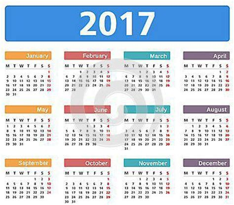 Calendario 2017 Feriados Usa Calendario De Feriados 2017
