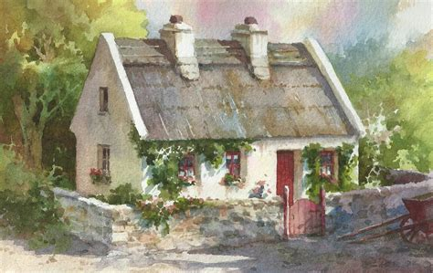 thatched cottages in ireland roland travel sketchbook new paintings of thatched