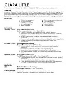 and counselor resume exle social