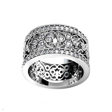 wide filigree wedding ring jewelry designs