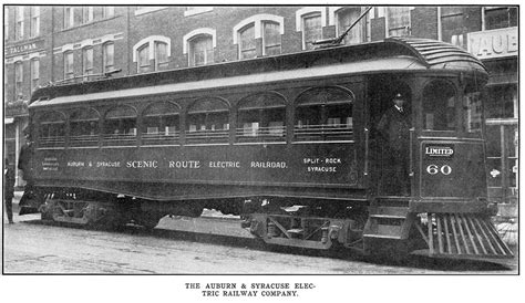 The Electric Railway auburn and syracuse electric railroad