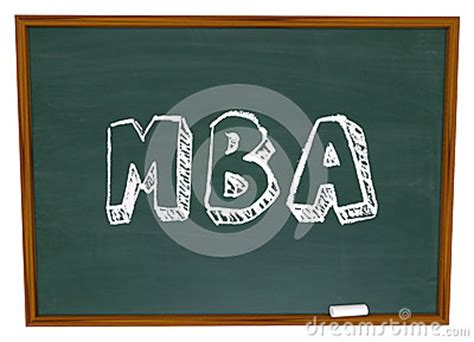 Mba Abbreviation by Mba Masters Business Administration College Degree Chalk
