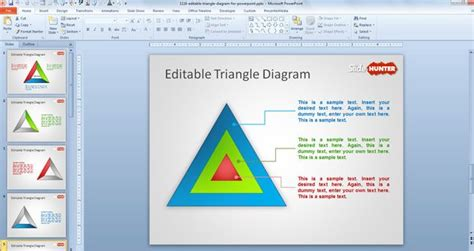 editable templates for presentation free editable triangle diagram for powerpoint