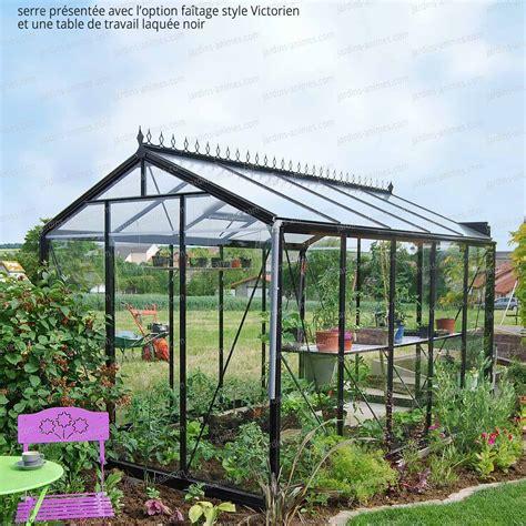 serre jardin serre de jardin prestige r 233 tro laqu 233 noir serre jardin