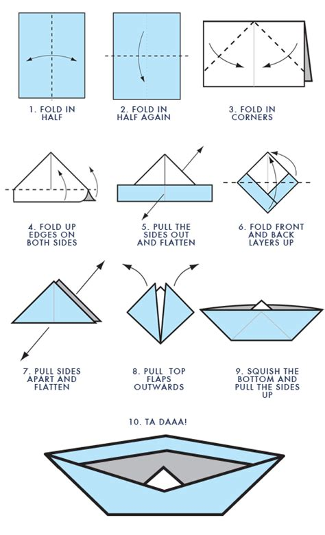 Paper Folding Boat - how to make a paper boat stuff