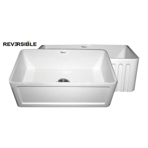Shop Whitehaus Collection Farmhaus 18 In X 30 In White White Apron Front Kitchen Sink