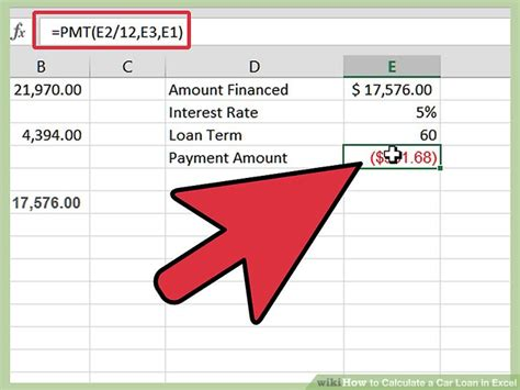 Figuring Out Financing by How To Calculate A Car Loan In Excel 10 Steps With Pictures