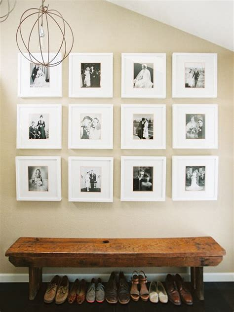 Family Square Photo Frame White Home Decoration Pigura Foto Tumpuk 15 diy entryway bench projects decorating your small space