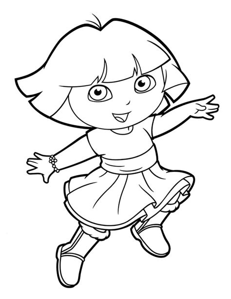simple dora coloring pages 90 coloring pages ice princess hannah lynn art 3
