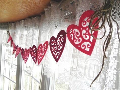 valentines garland 429 best images about garland and hanging hearts on