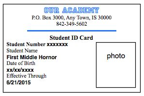 How To Make Student Id Cards Free Printable Printable Child Id Card Template