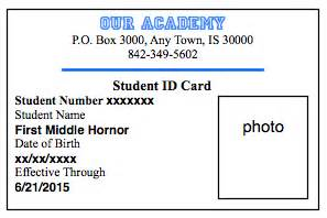 Homeschool Id Template by How To Make Student Id Cards Free Printable