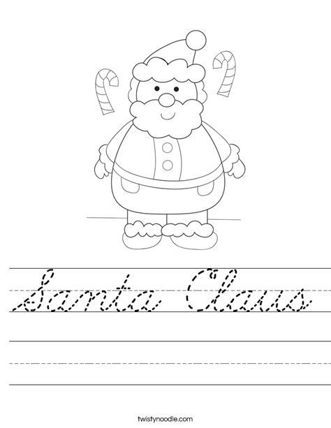 mrs claus coloring page twisty noodle santa claus worksheet cursive twisty noodle