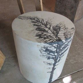 Papercrete Countertops by Pliny Side Table Seat Modern Concrete Furniture