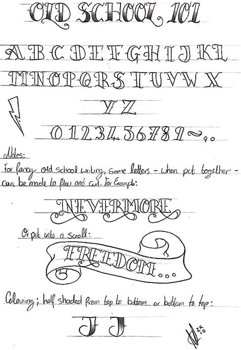 old school tattoo alphabet old school writing 101 by nevermore ink deviantart com on