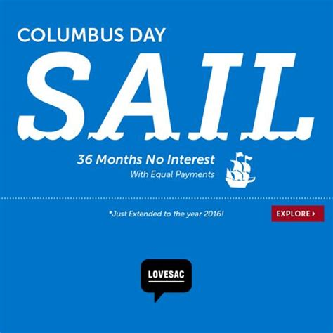 Lovesac Financing Columbus Day Sale No Interest Financing For 36 Months