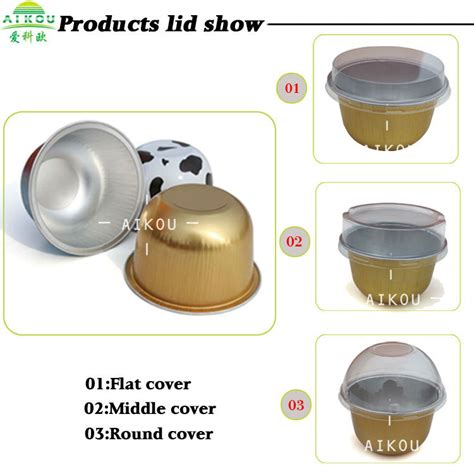 Alumunium Foil Cup Oval high end colorful disposable cake cup aluminum